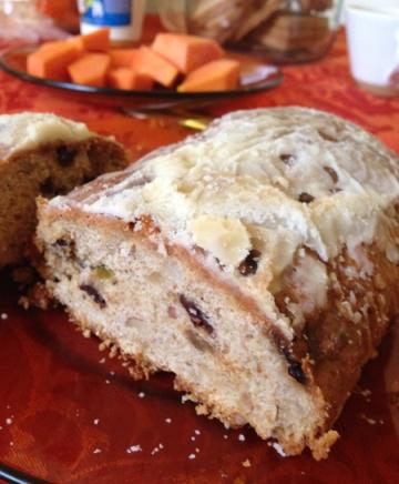 Stollen: pão doce de farinha integral, frutas secas, passas e outras delícias. Receita original da dona Margarida, fundadora da Lapinha!