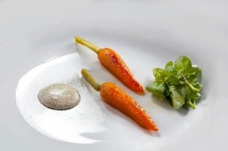 Cenoura grelhada com agrião