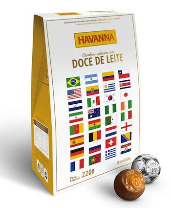 Bombons de chocolate recheados com DDL