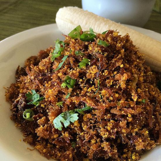 Paçoca com carne de sol, do São João: uma das melhores coisas que comi na vida