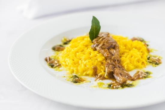 Risoto de açafrão com ragu de ossobuco, do chef Roberto Cerea para o Terrço Itália (foto do Paulo Mercadante)