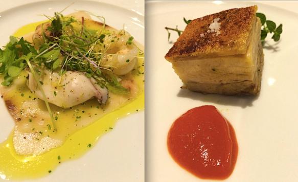 Entrada e prato do chef Giovanni Guarneri para o Picchi na 4ª Settimana Italiana
