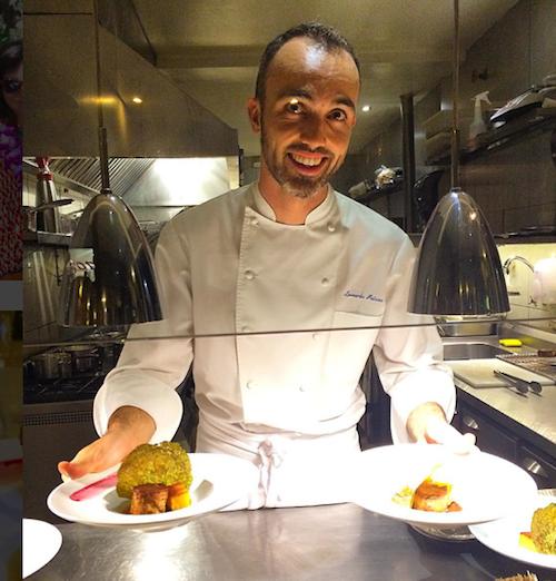 O chef Leornardo Paixão em sua cozinha do Glouton